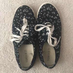 Forever 21 Graffiti Print Low Top Canvas Shoes